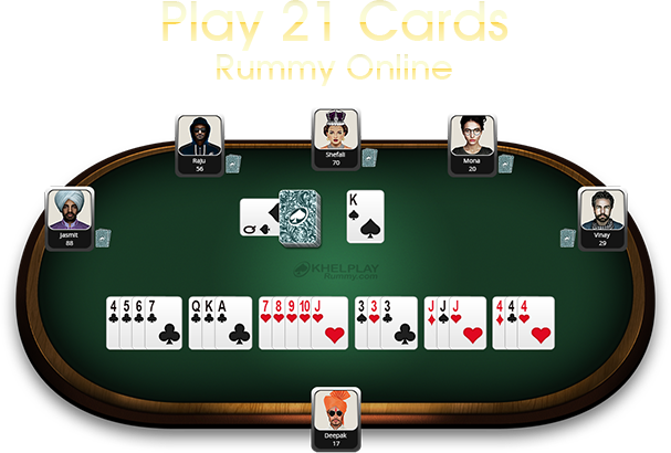 game table of khelplay rummy