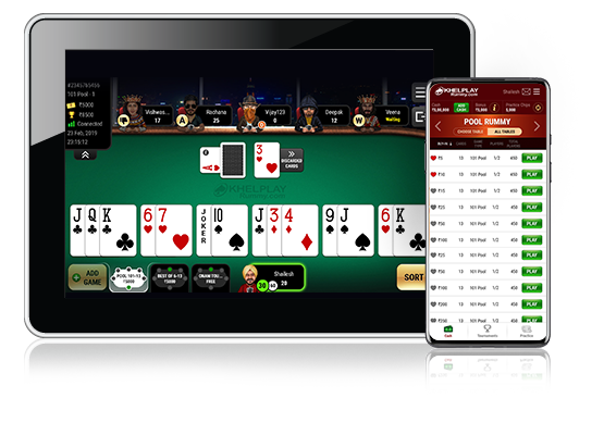 kheplay rummy gameplay on ipad and mobile