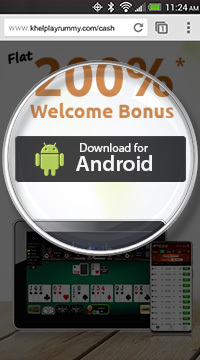 Step Number One to Download Cash Rummy on Android