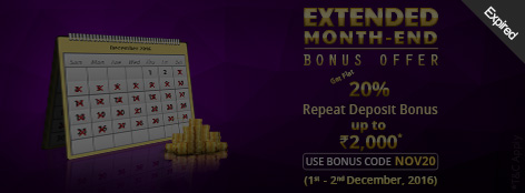 Extended Month End Bonus Offer