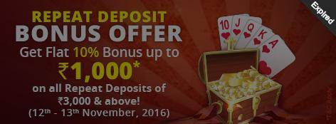 Repeat Deposit Bonus Offer