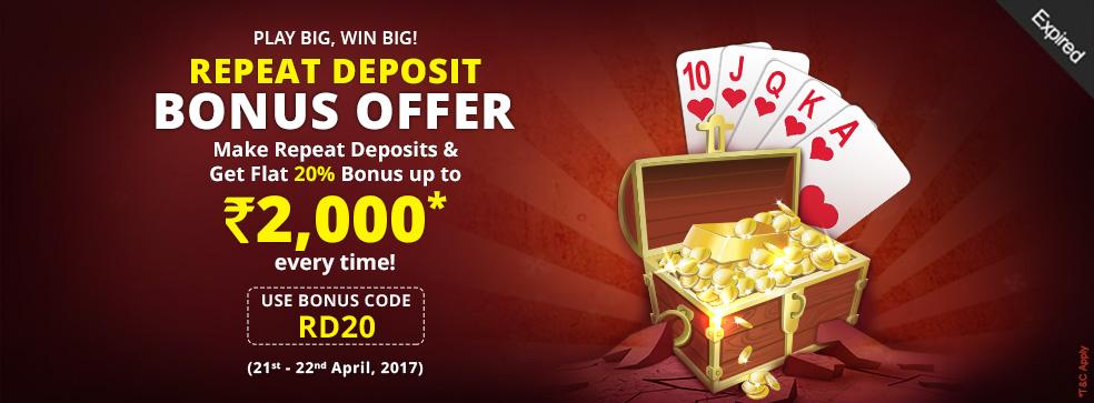 repeat deposit offer