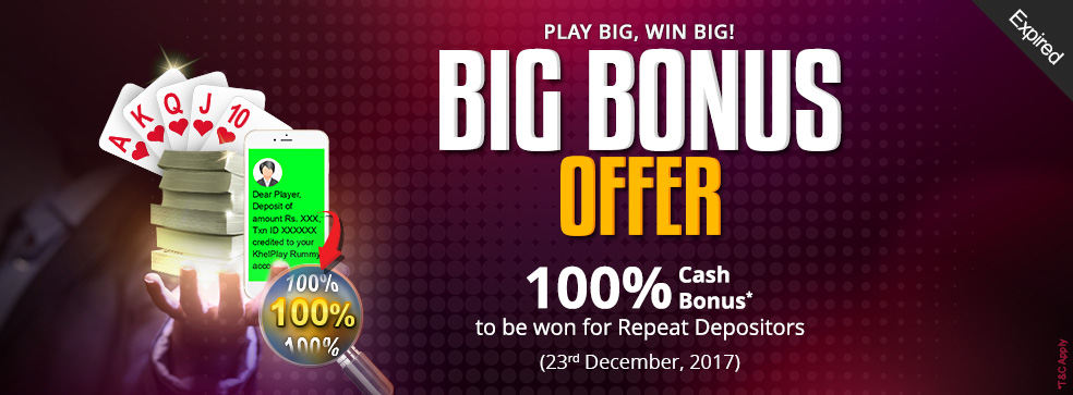 Big Bonus Offer