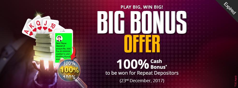 Big Bonus Offer