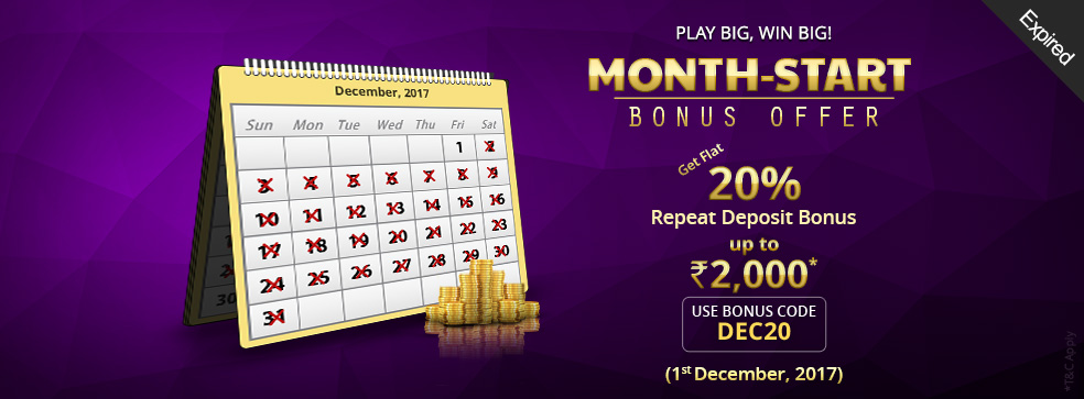Month-Start Bonus Offer