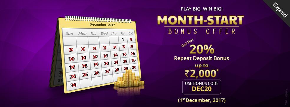 Month-Start Bonus Offer
