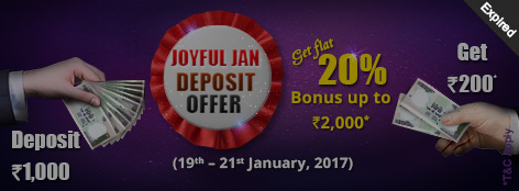 Joyful Jan Repeat Deposit Offer