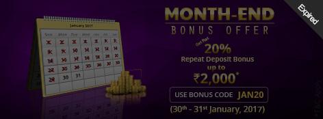 Month-End Bonus Offer