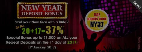 New Year Deposit Bonus Offer