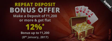 Repeat Deposit Bonus Offer