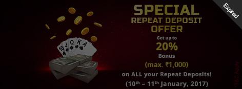 Special Repeat Deposit Bonus Offer