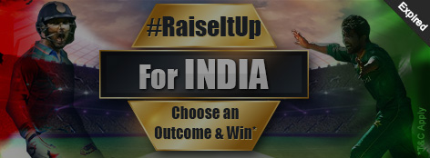 #RaiseItUp For India Offer