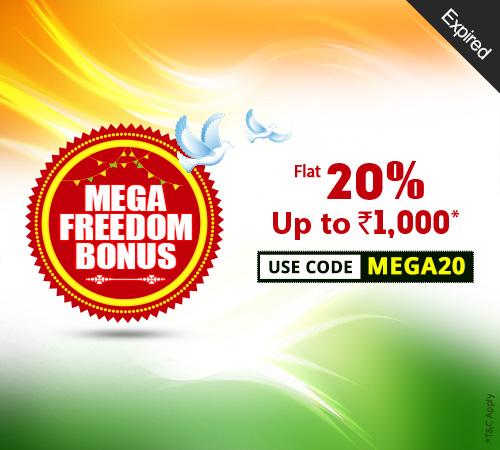 Mega Freedom Bonus Offer