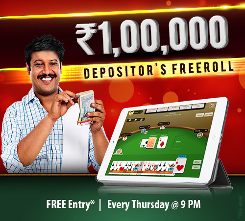 Rs. 1 Lakh Depositor's Freeroll Tournament