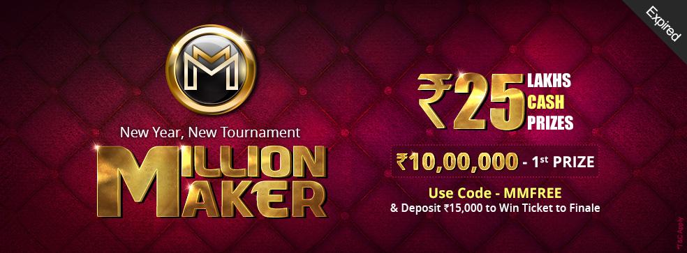 Million Maker Rummy Tournament