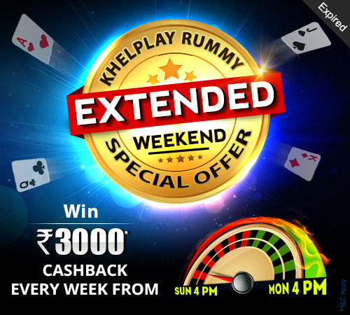 KhelPlay Rummy Extended Weekend Special Offer
