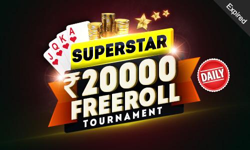 Superstar 20000 GTD Freeroll Tournament