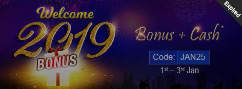 Welcome 2019 Bonus Offer