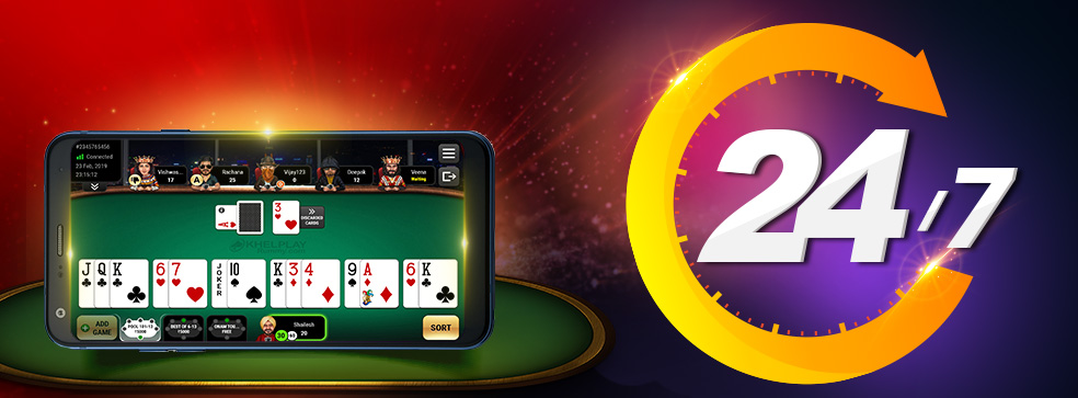 Play Rummy Games 24x7