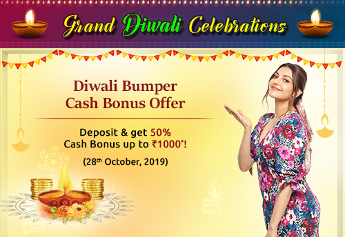 Diwali Bumper Cash Bonus Offer
