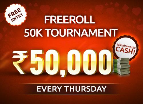Freeroll 50K Tournament
