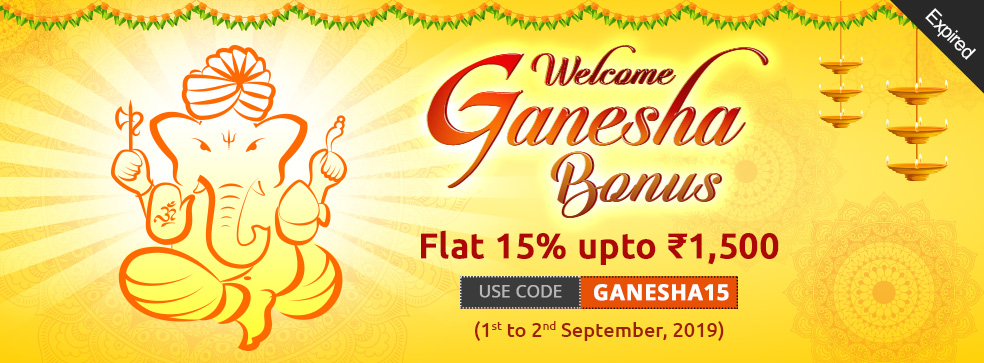 Welcome Ganesha Bonus Offer
