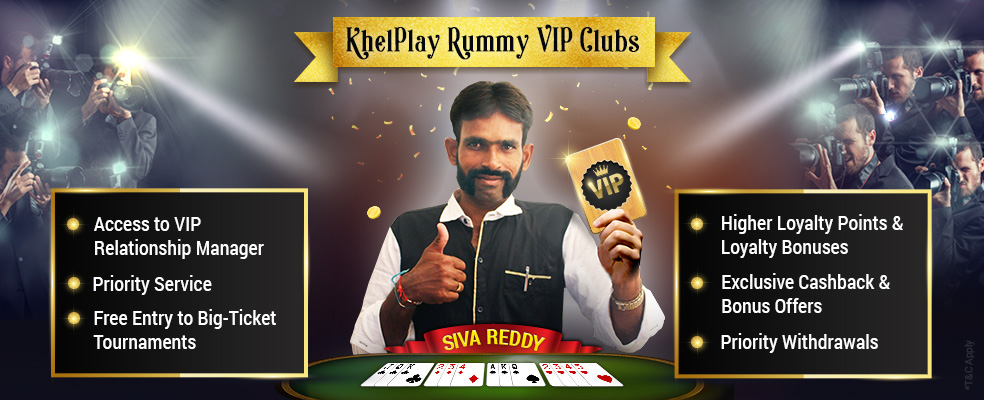 VIP Clubs and Benefits on KhelPlay Rummy