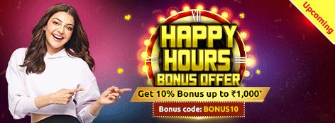 Happy Hours Bonus Offer