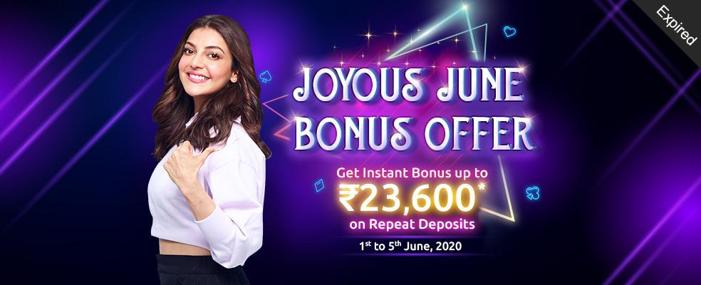 Joyous June Bonus