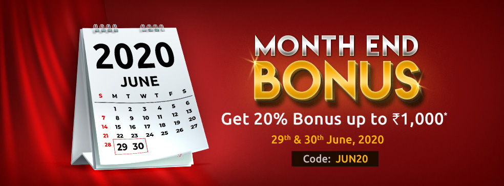 Month End Bonus Offer