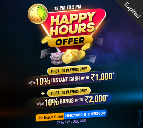 Happy Hours Offer