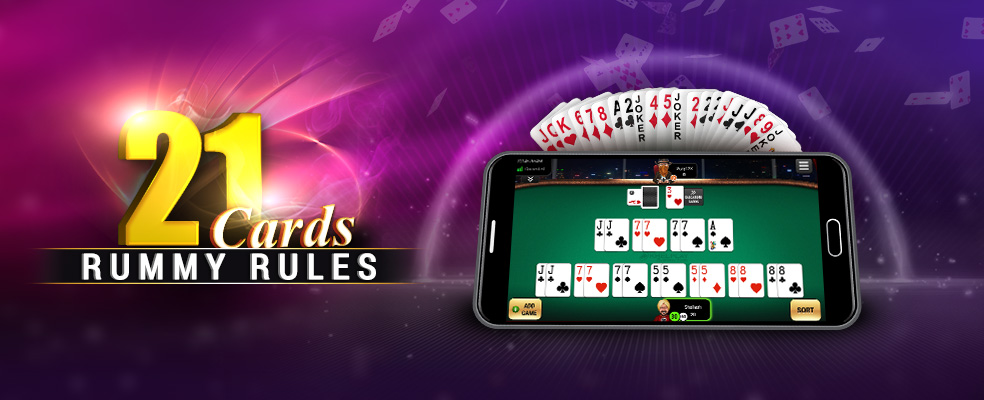 21 Cards Rummy Rules