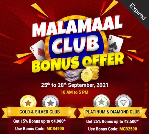 Malamaal Club Bonus Offer