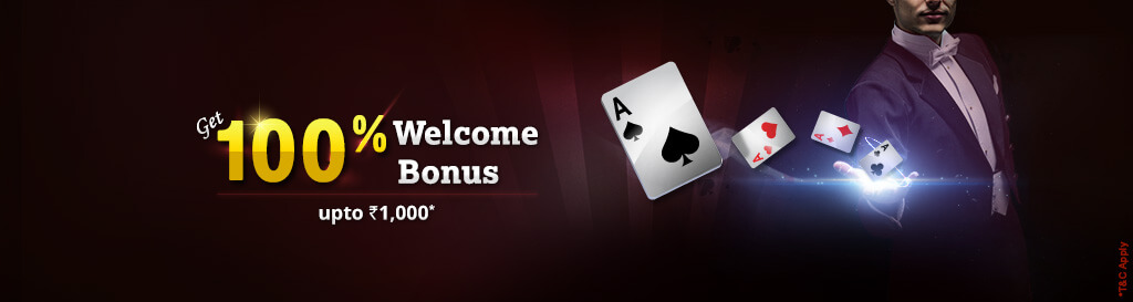 100% welcome bonus offer at khelplay rummy