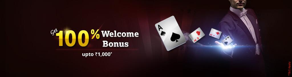 100% welcome bonus offer at khelplay rummy