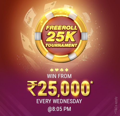 Freeroll 25K Tournament
