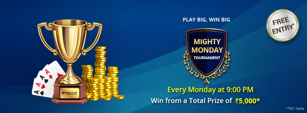 mighty monday tournament at khelplay rummy