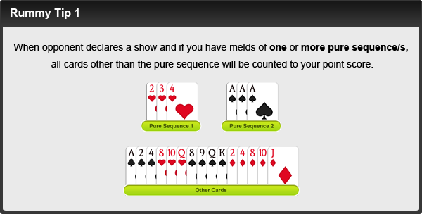 rummy tip number one