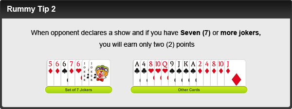 rummy tip number two