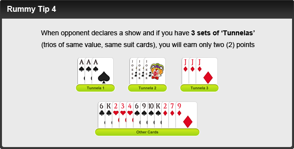rummy tip number four